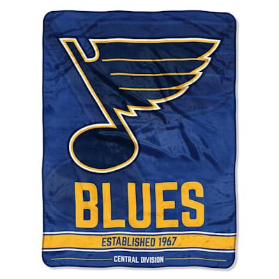 "Blues (Northwest Company NHL Micro Raschel Throw Blanket - 46"" x 60"")"
