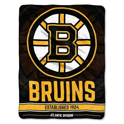 "Bruins (Northwest Company NHL Micro Raschel Throw Blanket - 46"" x 60"")"