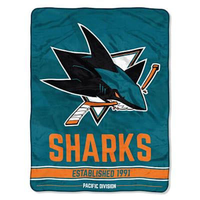 "Sharks (Northwest Company NHL Micro Raschel Throw Blanket - 46"" x 60"")"