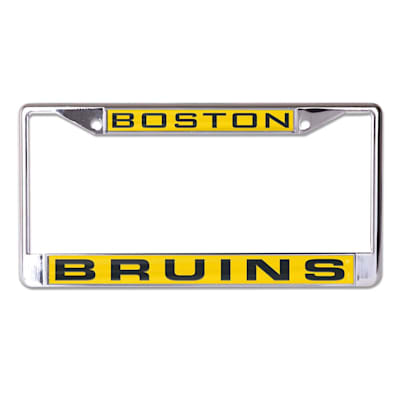 (Wincraft NHL Inlaid Metal License Plate Frame - Boston Bruins)