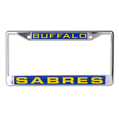 (Wincraft NHL Inlaid Metal License Plate Frame - Buffalo Sabres)
