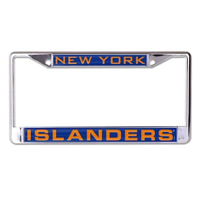 (Wincraft NHL Inlaid Metal License Plate Frame - New York Islanders)