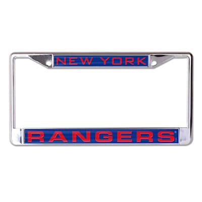 (Wincraft NHL Inlaid Metal License Plate Frame - New York Rangers)