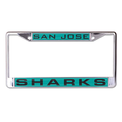 (Wincraft NHL Inlaid Metal License Plate Frame - San Jose Sharks)