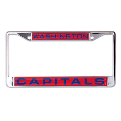 (Wincraft NHL Inlaid Metal License Plate Frame - Washington Capitals)
