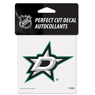 "NHL 4 x 4 Color Decal - DAL (Wincraft NHL Perfect Cut Color Decal - 4"" x 4"" - Dallas Stars)"