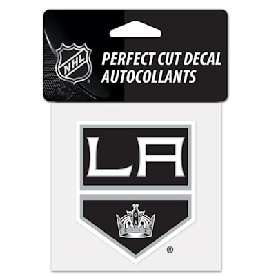 """NHL 4 x 4 Color Decal - LAK (Wincraft NHL Perfect Cut Color Decal - 4"""" x 4"""" - Los Angeles Kings)"""
