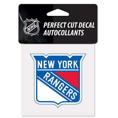 "NHL 4 x 4 Color Decal - NYR (Wincraft NHL Perfect Cut Color Decal - 4"" x 4"" - New York Rangers)"