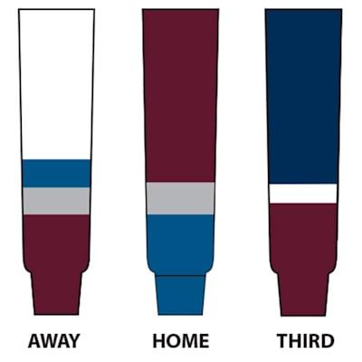 (NHL Team Hockey Socks - Colorado Avalanche - Intermediate)