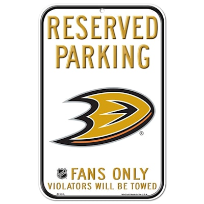 (Wincraft NHL Reserved Parking Sign - Anaheim Ducks)