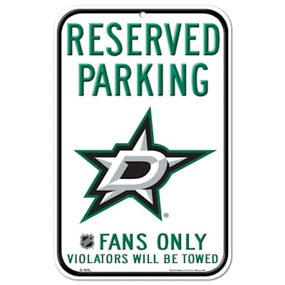 (Wincraft NHL Reserved Parking Sign - Dallas Stars)