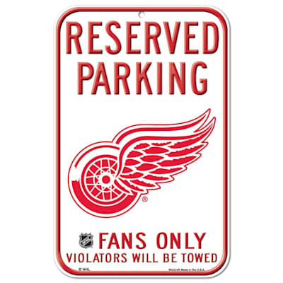(Wincraft NHL Reserved Parking Sign - Detroit Red Wings)