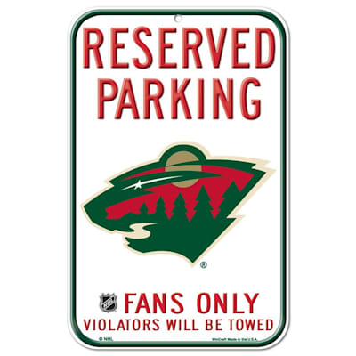 (Wincraft NHL Reserved Parking Sign - Minnesota Wild)