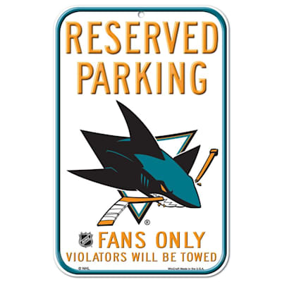 (Wincraft NHL Reserved Parking Sign - San Jose Sharks)