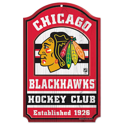 "(Wincraft NHL Wood Sign - 11""  x 17""  - Chicago Blackhawks)"