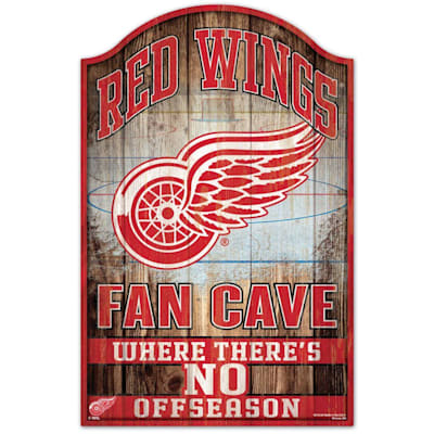 """(Wincraft NHL Wood Sign - 11"""" x 17"""" - Detroit Red Wings)"""