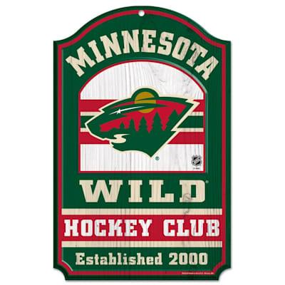 """(Wincraft NHL Wood Sign - 11"""" x 17"""" - Minnesota Wild)"""