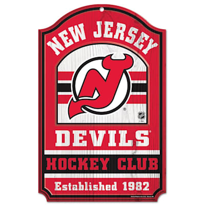 "(Wincraft NHL Wood Sign - 11"" x 17"" - New Jersey Devils)"
