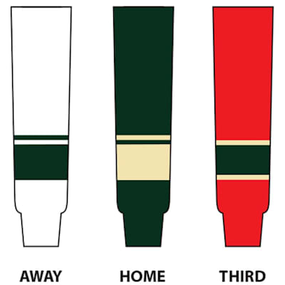 (NHL Team Hockey Socks - Minnesota Wild - Tyke)