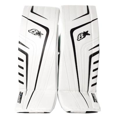 White/Black (Brians OPT1K Goalie Leg Pads - Senior)