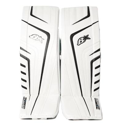 White/Navy (Brians OPT1K Goalie Leg Pads - Senior)