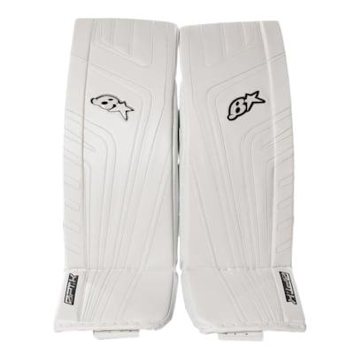 White/White (Brians OPT1K Goalie Leg Pads - Senior)