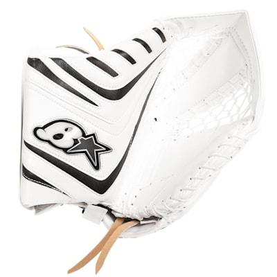 White/Navy (Brians OPT1K Goalie Catch Glove - Senior)