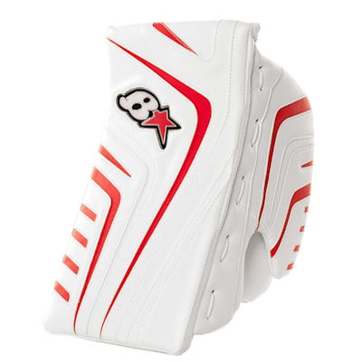 White/Red (Brians OPT1K Goalie Blocker - Senior)