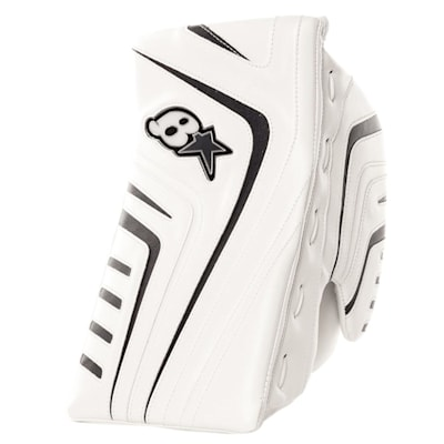 White/Navy (Brians OPT1K Goalie Blocker - Senior)