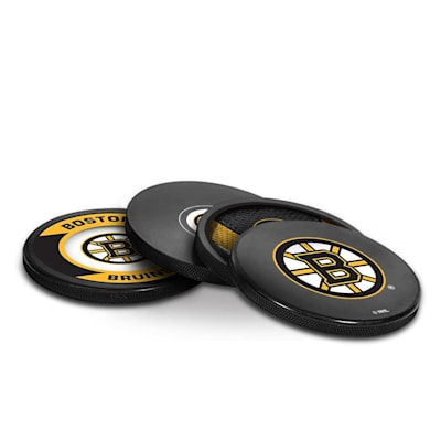 (InGlasco Puck Coasters Pack - Boston Bruins)