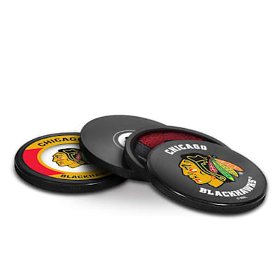 (InGlasco Puck Coasters Pack - Chicago Blackhawks)