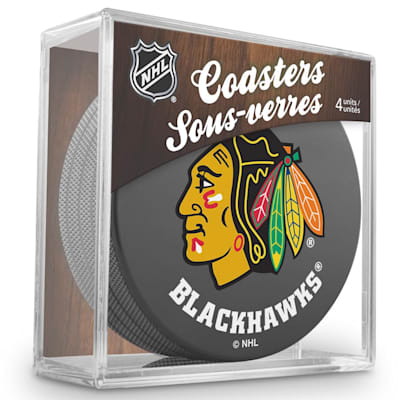 (InGlasco Puck Coasters Pack - Chicago Blackhawks)