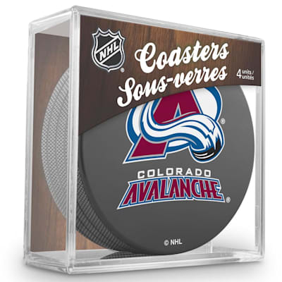 (InGlasco Puck Coasters Pack - Colorado Avalanche)