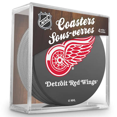(InGlasco Puck Coasters Pack - Detroit Red Wings)