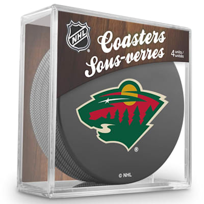 (InGlasco Puck Coasters Pack - Minnesota Wild)