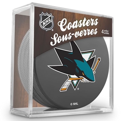 (InGlasco Puck Coasters Pack - San Jose Sharks)