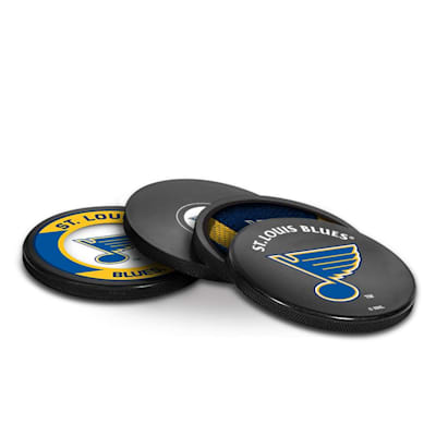 (InGlasco Puck Coasters Pack - St. Louis Blues)