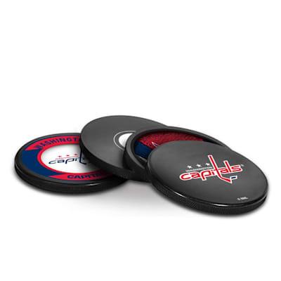 (InGlasco Puck Coasters Pack - Washington Capitals)