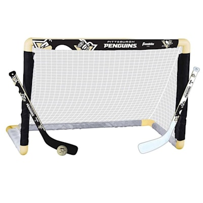 NHL Team Mini Goal Set - PIT (Franklin NHL Team Mini Hockey Goal Set - Pittsburgh Penguins)