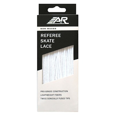 All White Referee Laces (A&R Referee Skate Lace)
