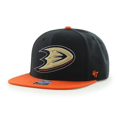 Front (47 Brand Anaheim Ducks Sure Shot Two Tone Snapback Cap)