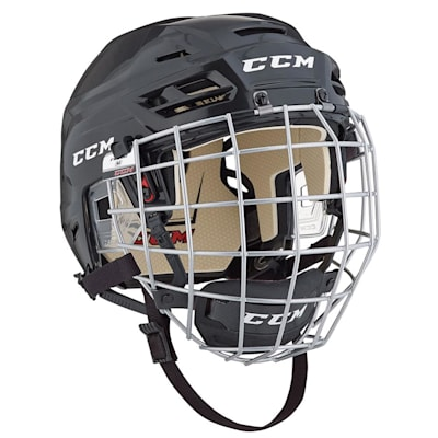 Black (CCM Tacks 110 Hockey Helmet Combo)