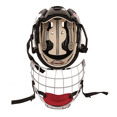 Inside View (CCM Tacks 110 Hockey Helmet Combo)