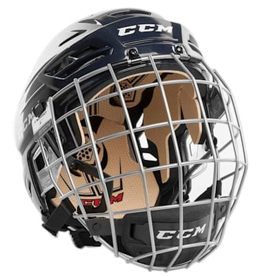 Navy (CCM Tacks 110 Hockey Helmet Combo)