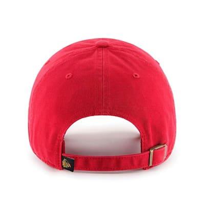 Back (47 Brand Blackhawks Clean Up Cap - Red)