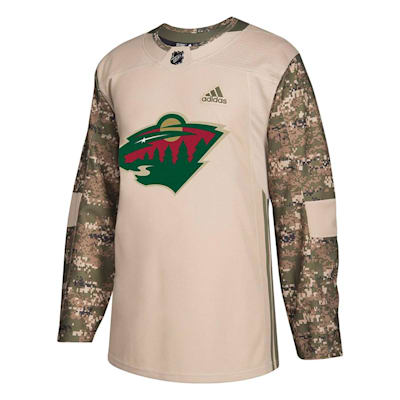 Front (Adidas Minnesota Wild Camo Jersey - Adult)