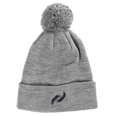 Grey (Pure Hockey Classic Pom Knit Hat - Grey - Adult)