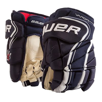 Navy (Bauer Vapor 1X Lite Pro Hockey Gloves - Senior)