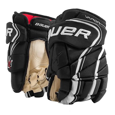 Black/White (Bauer Vapor 1X Lite Pro Hockey Gloves - Senior)