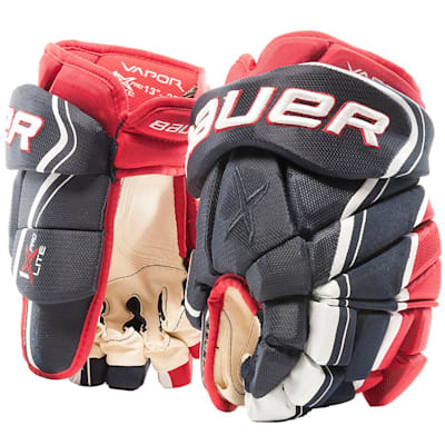 Navy/Red/White (Bauer Vapor 1X Lite Pro Hockey Gloves - Senior)